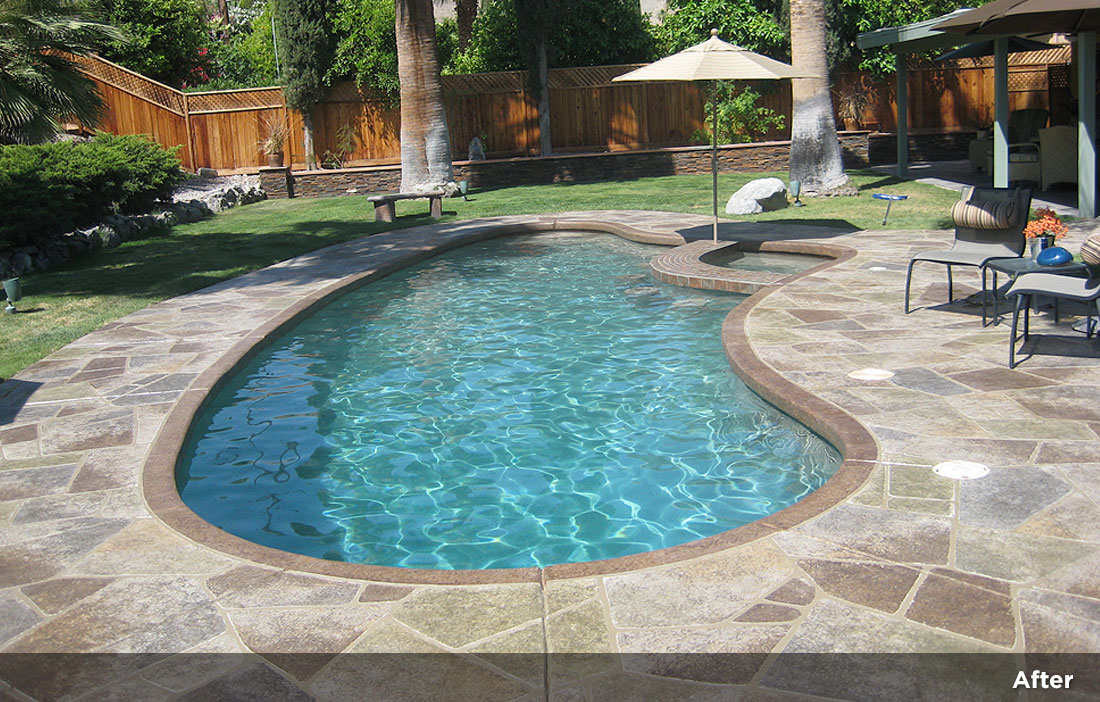 Flagstone design tile design patios pool decks 4 Flagstone pavers around pool